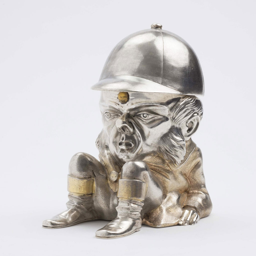 Victorian Parcel-Gilt Figural Inkstand