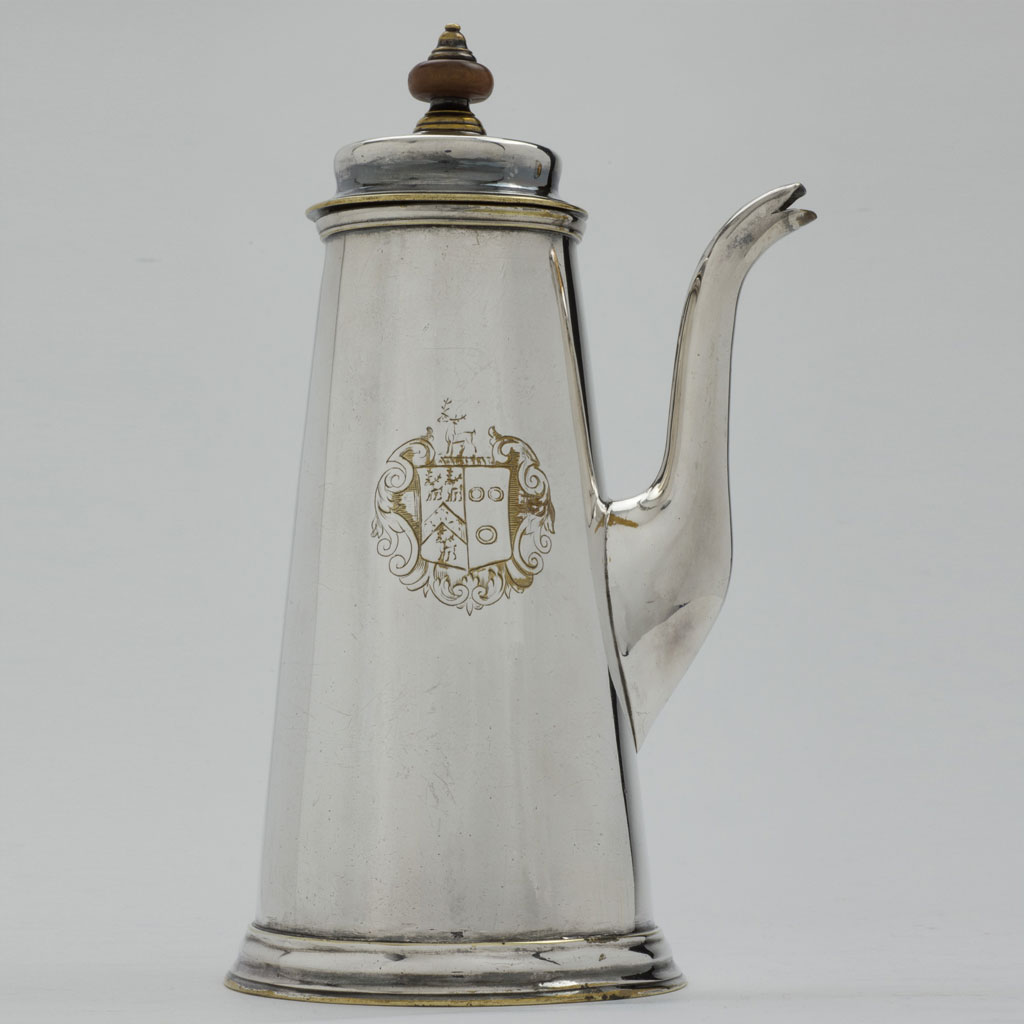 Side-handled Brass Coffee Pot