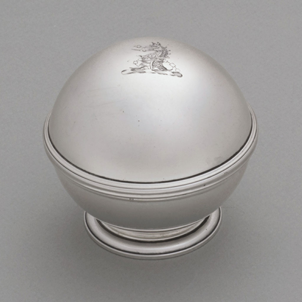 18th Century Silver Soap Box