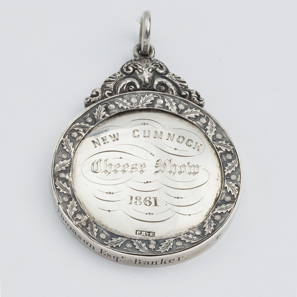 A Victorian Scottish Silver Prize For Cheese.