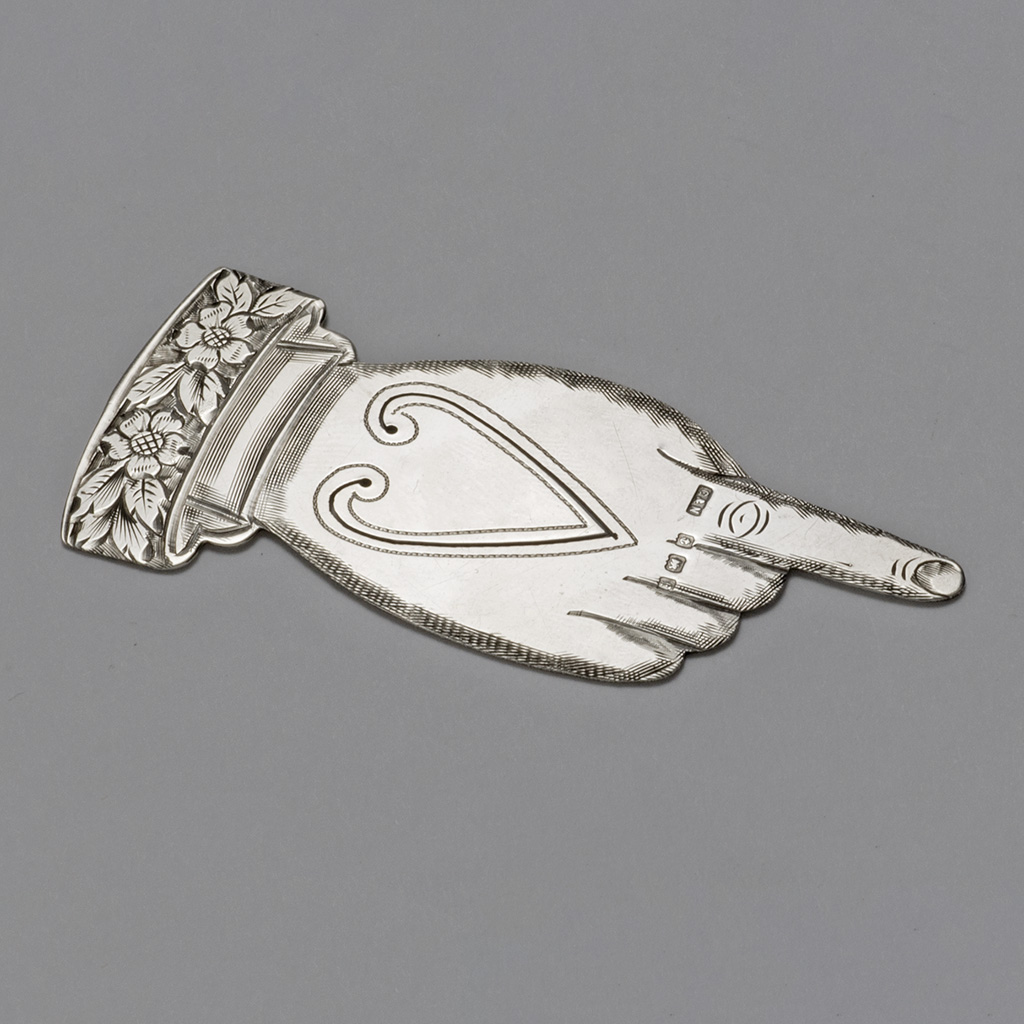 An Edwardian Novelty Bookmark In The Shape Of A Hand.