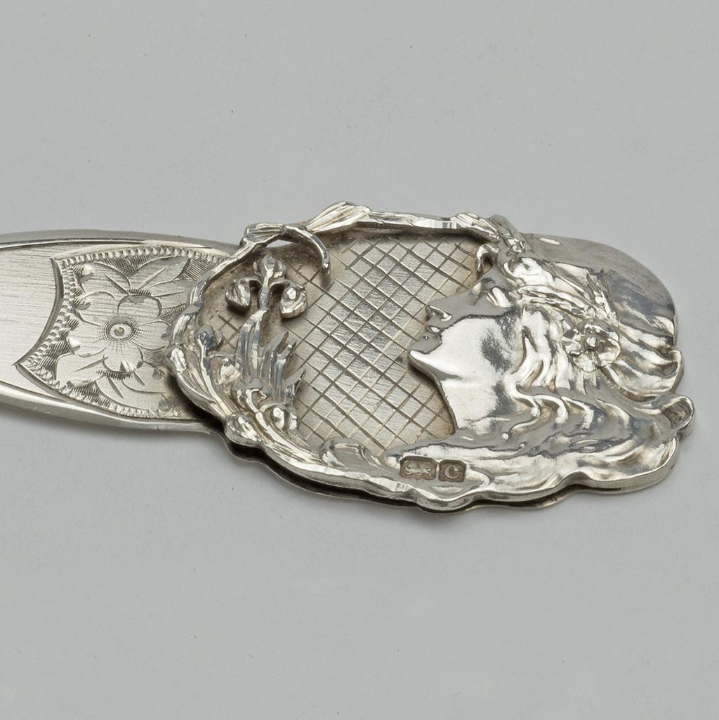 An Edwardian Silver Bookmark.