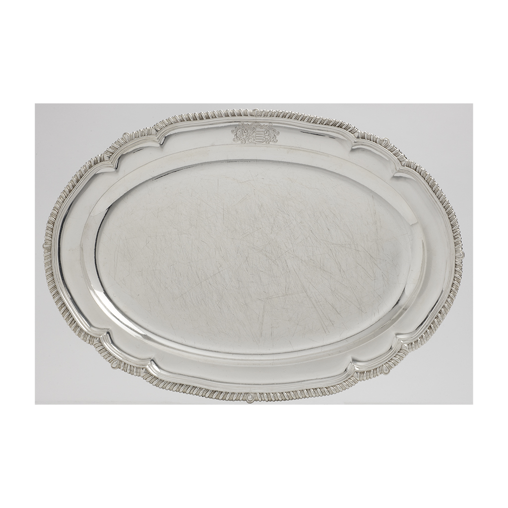 A George III Silver Meat Dish.