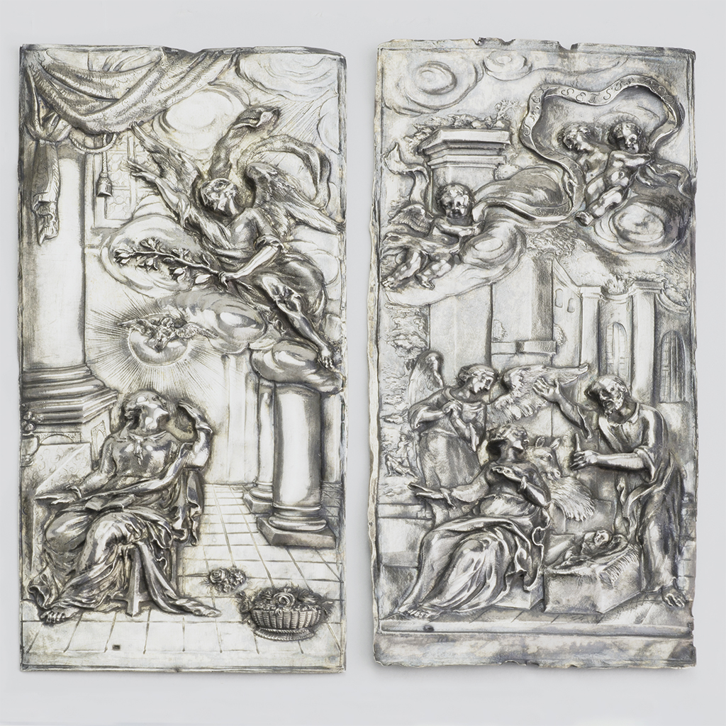 Two European Silver 17th Century Plaques.