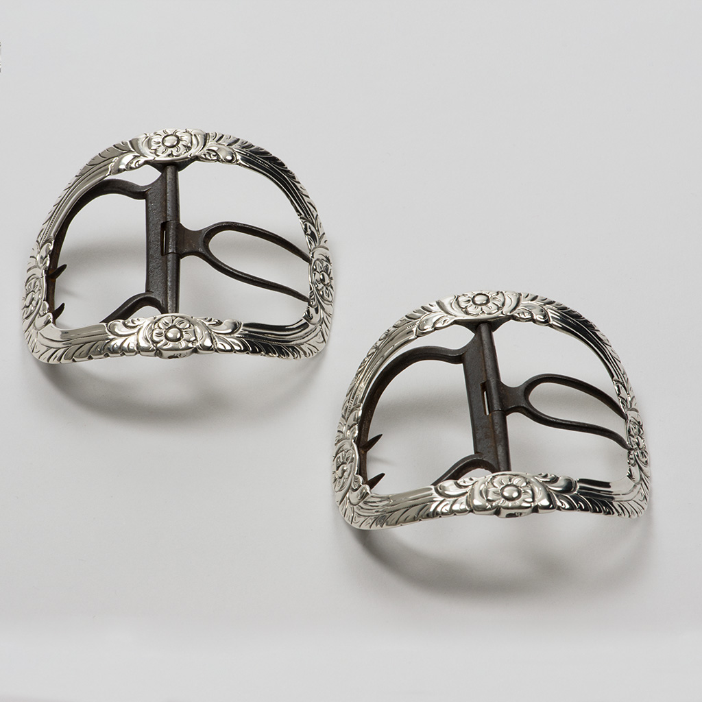 A Pair Of George III Exeter Silver Shoe Buckles.