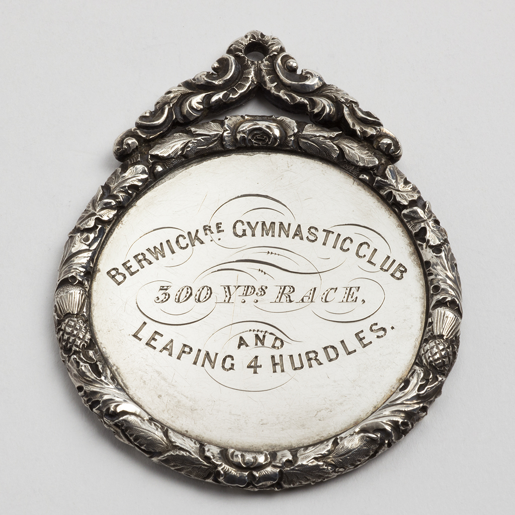 A Victorian Silver Prize Medal From The Berwickshire Gymnastics Club.