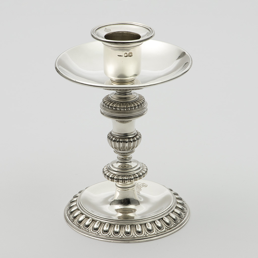 A Silver Candlestick For The King Of Hanover's Birthday.