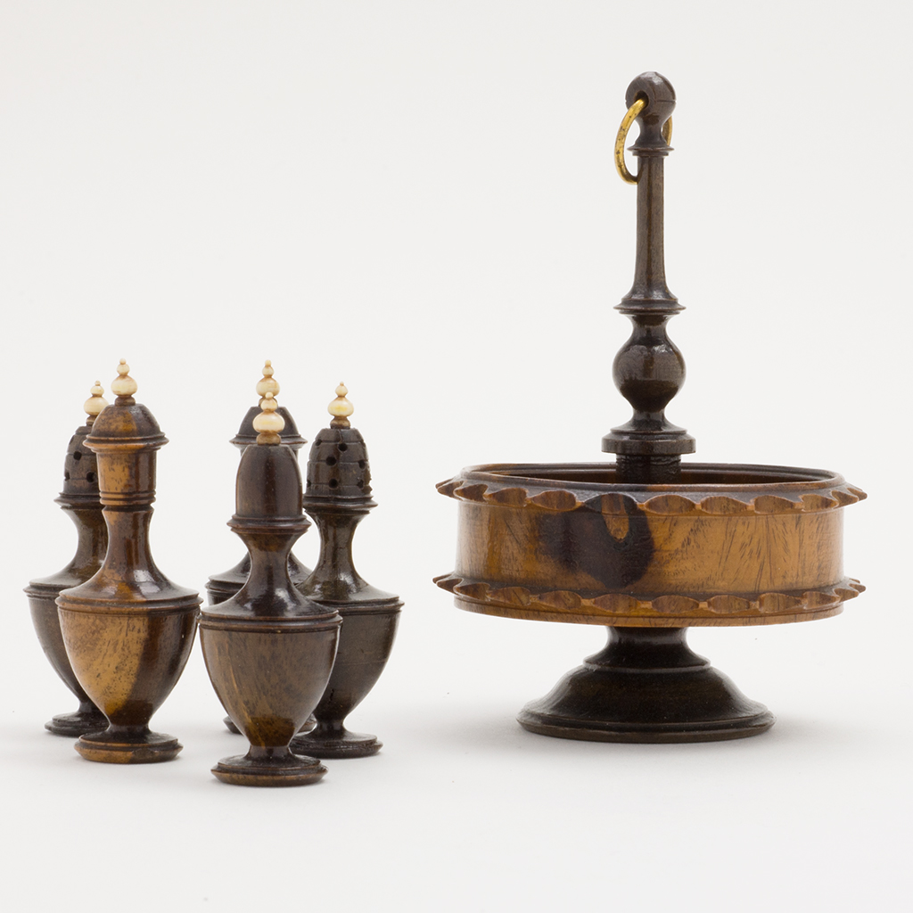 A Toy Late 18th Century Wooden Cruet.