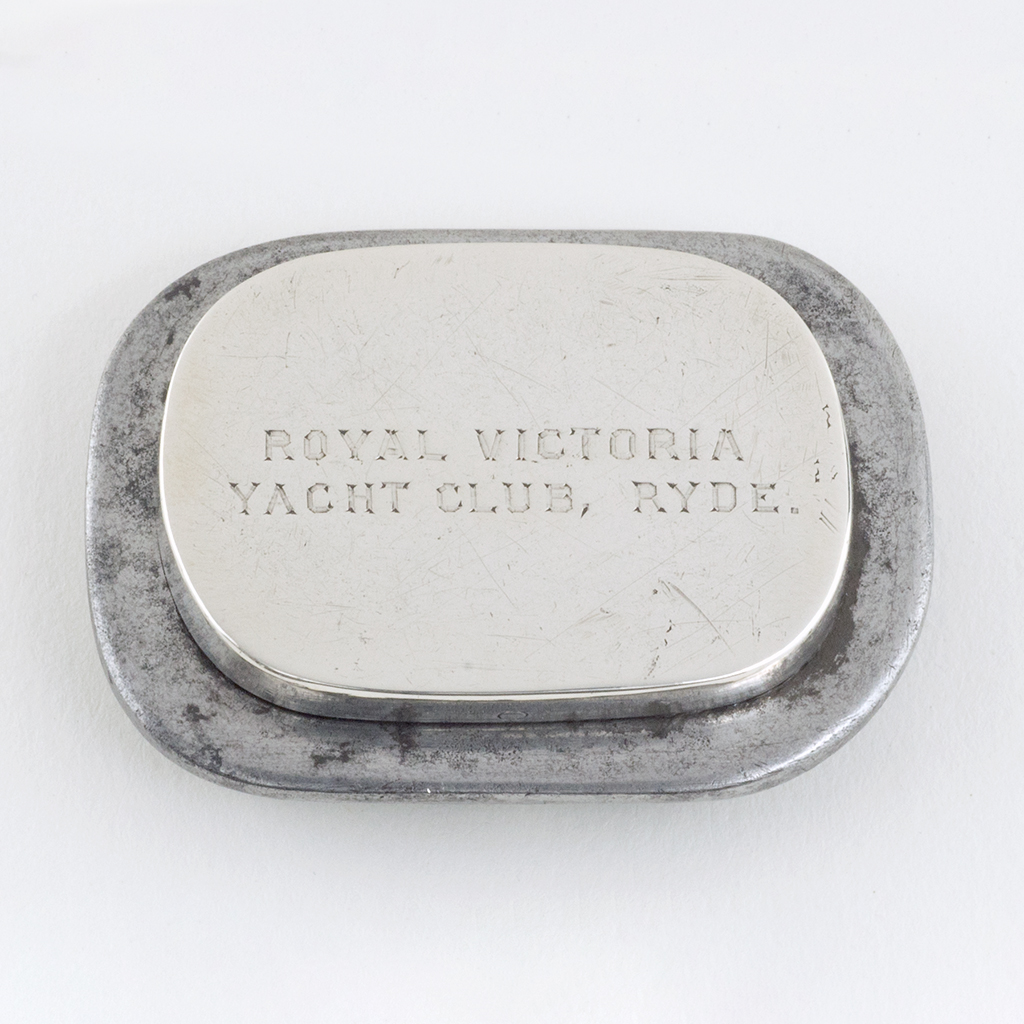 A Victorian Silver Tinder Box For A Yachtsman.