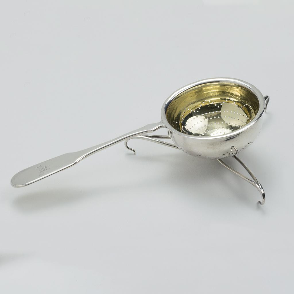 A Rare Victorian Silver Teastrainer.