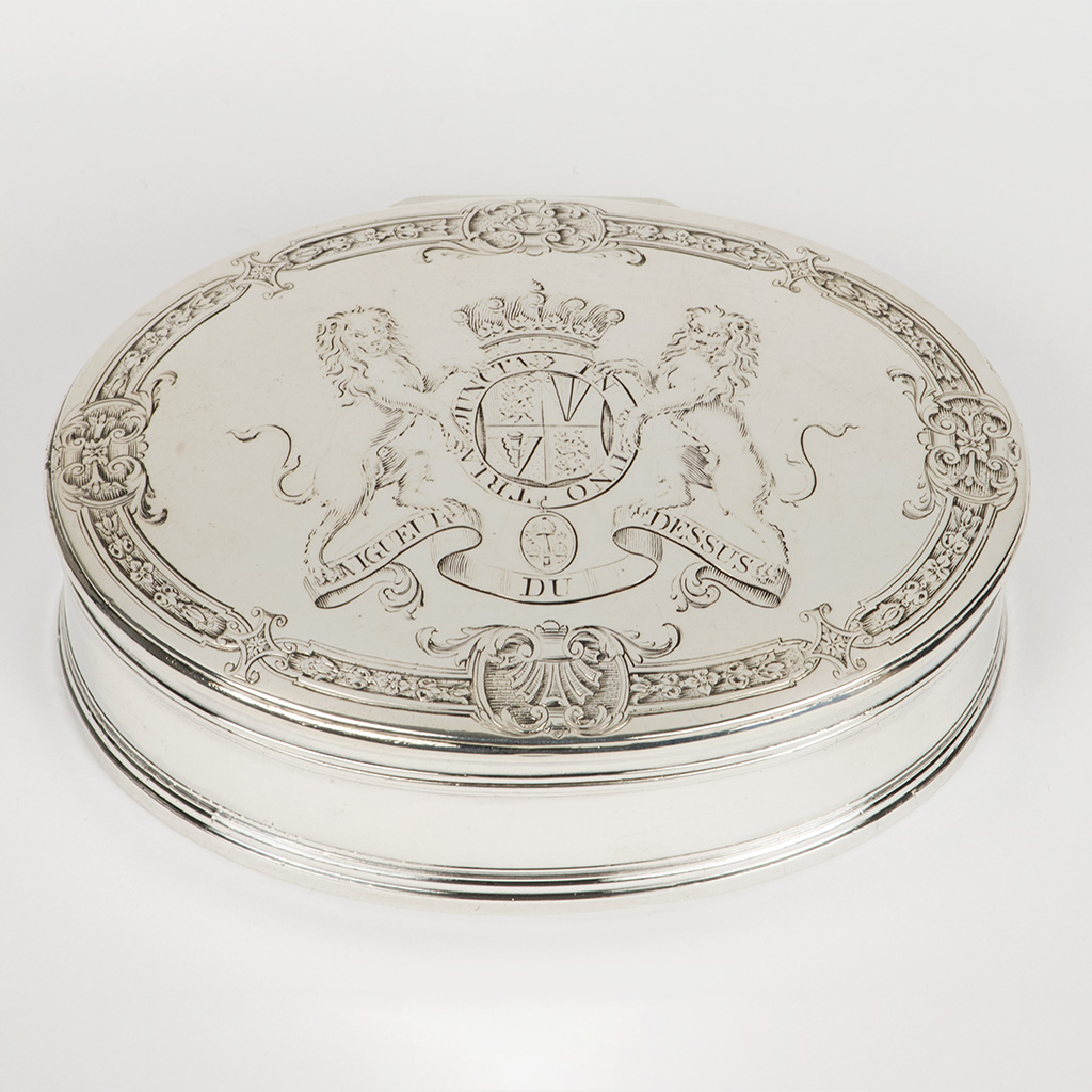 A George II Silver Box For The Earl Of Inchiquin.