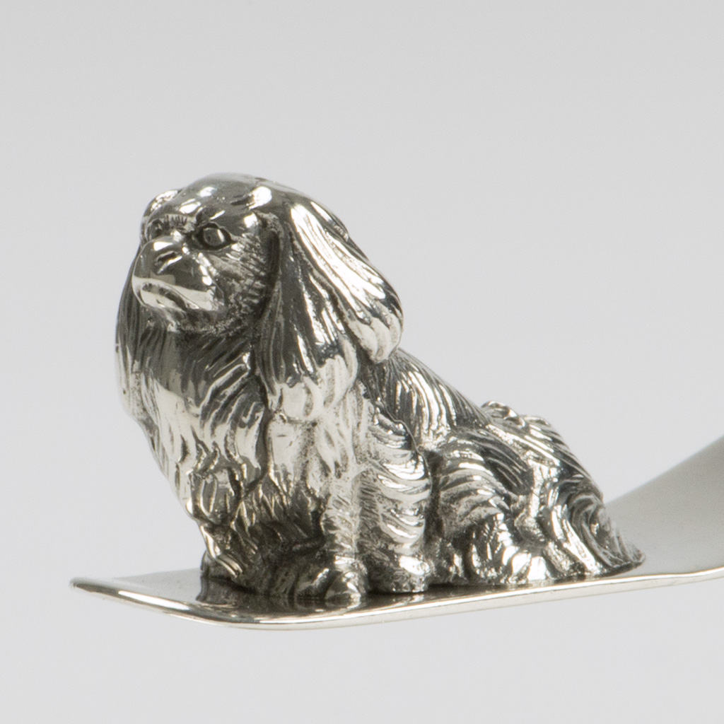 A Novelty Silver Paper Knife And Bookmark With A Pug Dog.