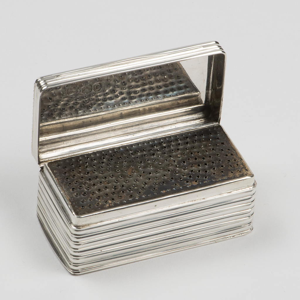 A Large Size Victorian Silver Nutmeg Grater.