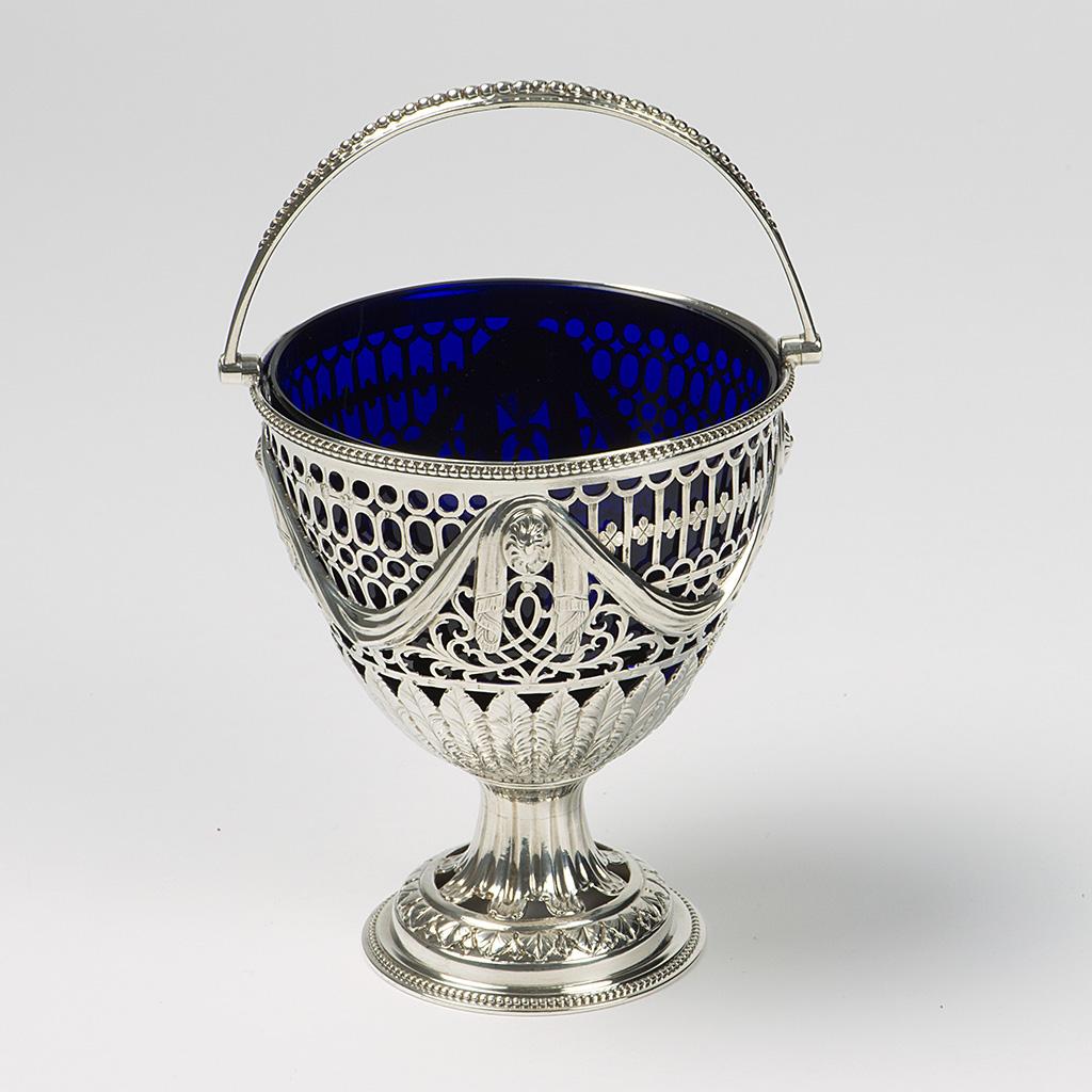 A George III Pierced Silver Sugar Basket.