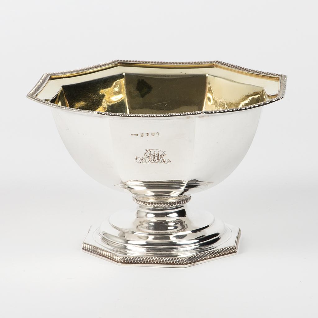 A George III Scottish Silver Octagonal Bowl.