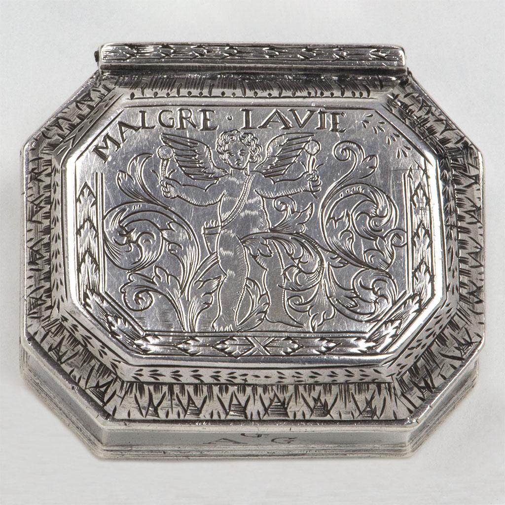 An Unusual Late 17th Century English Silver Box.