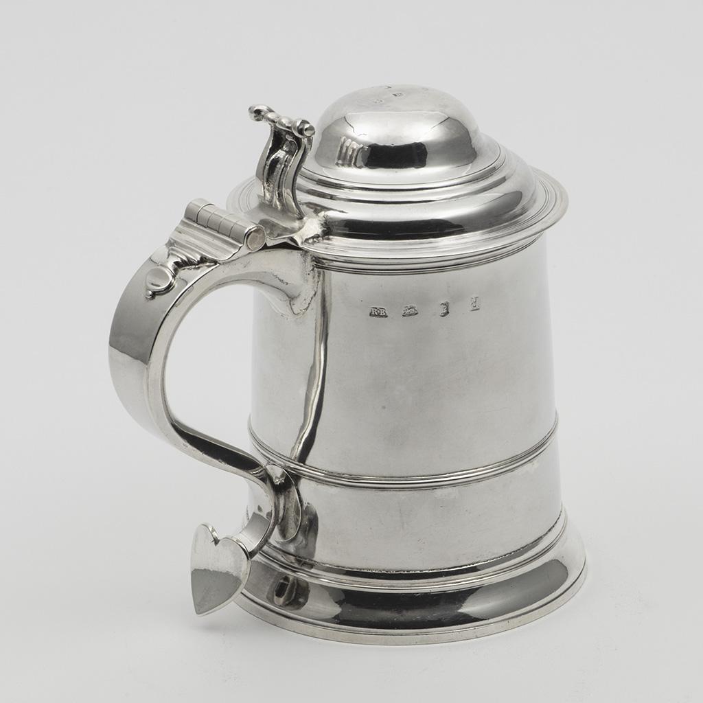A George II Quart-sized Silver Tankard.