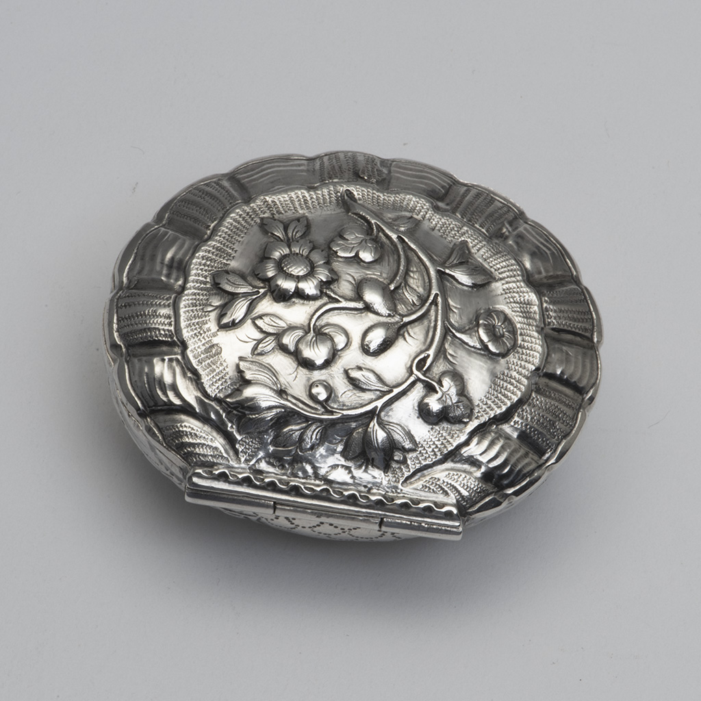 An 18th Century German Silver Snuffbox From Augsburg.