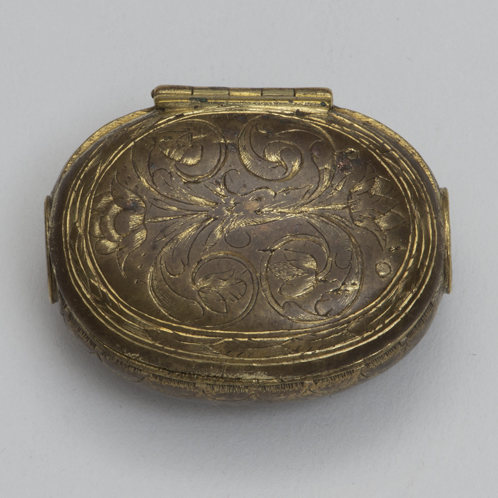 A 17th Century Gilt Metal English Box.