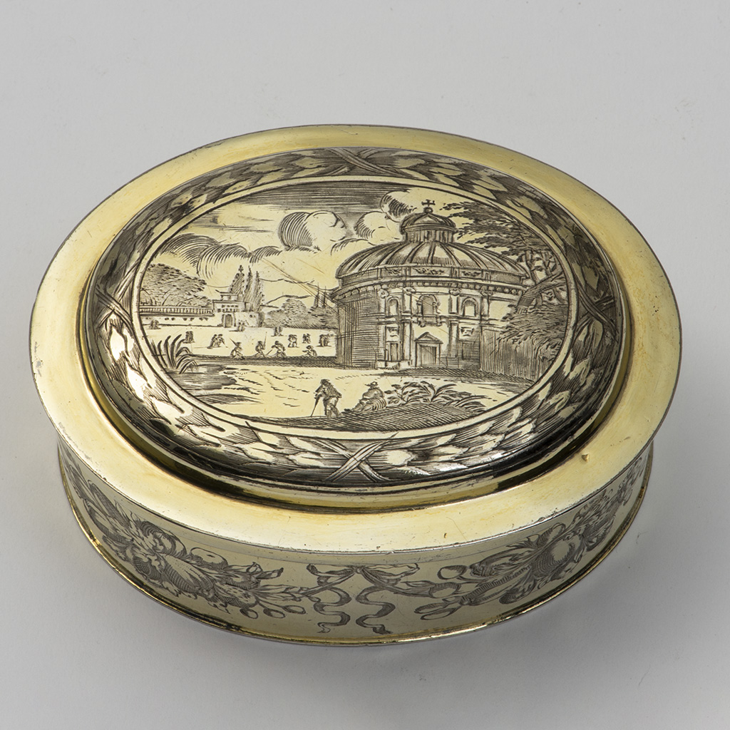 A 17th Century German Silver-gilt Toilet Box.