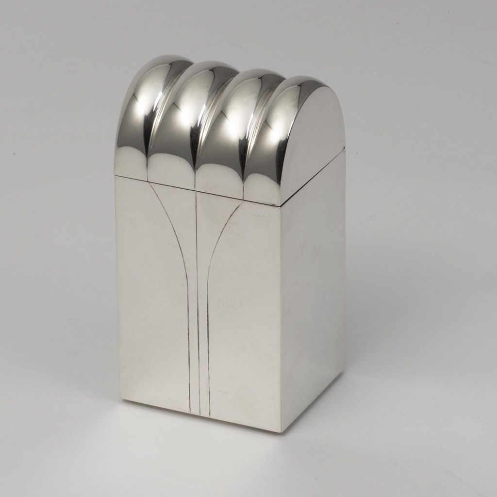 A Stylish Twentieth Century Silver Box.
