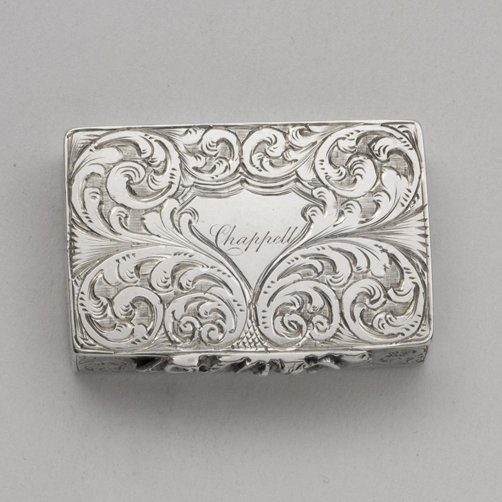 A Small Victorian Silver Snuff Or Pill Box.