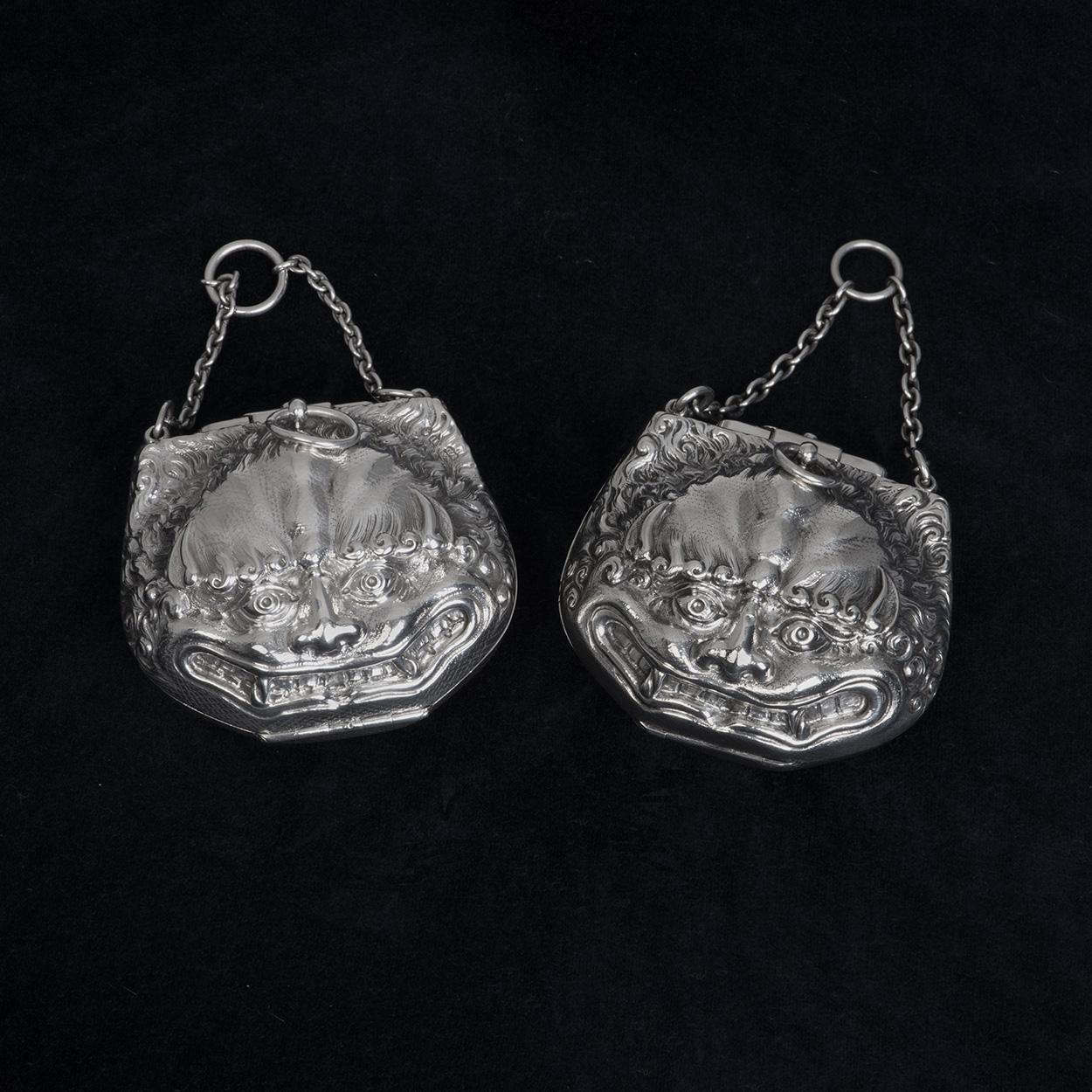 A Pair Of Victorian Silver Cases By Louis Dee.