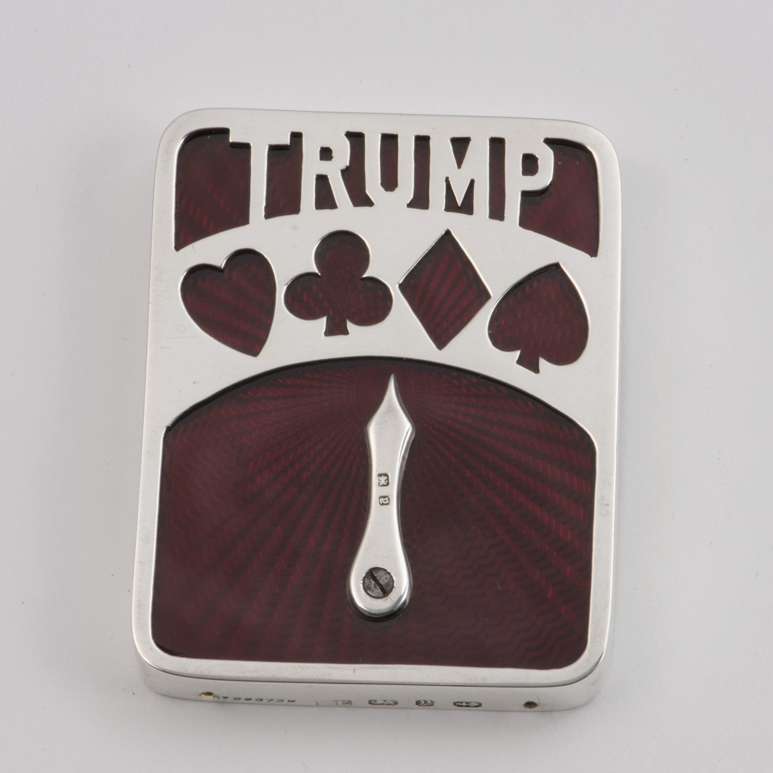 An Unusual Late Victorian Silver-mounted Trump Marker.