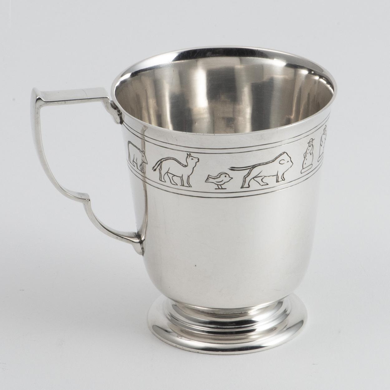 An Art Deco Silver Noah's Ark Child's Mug.