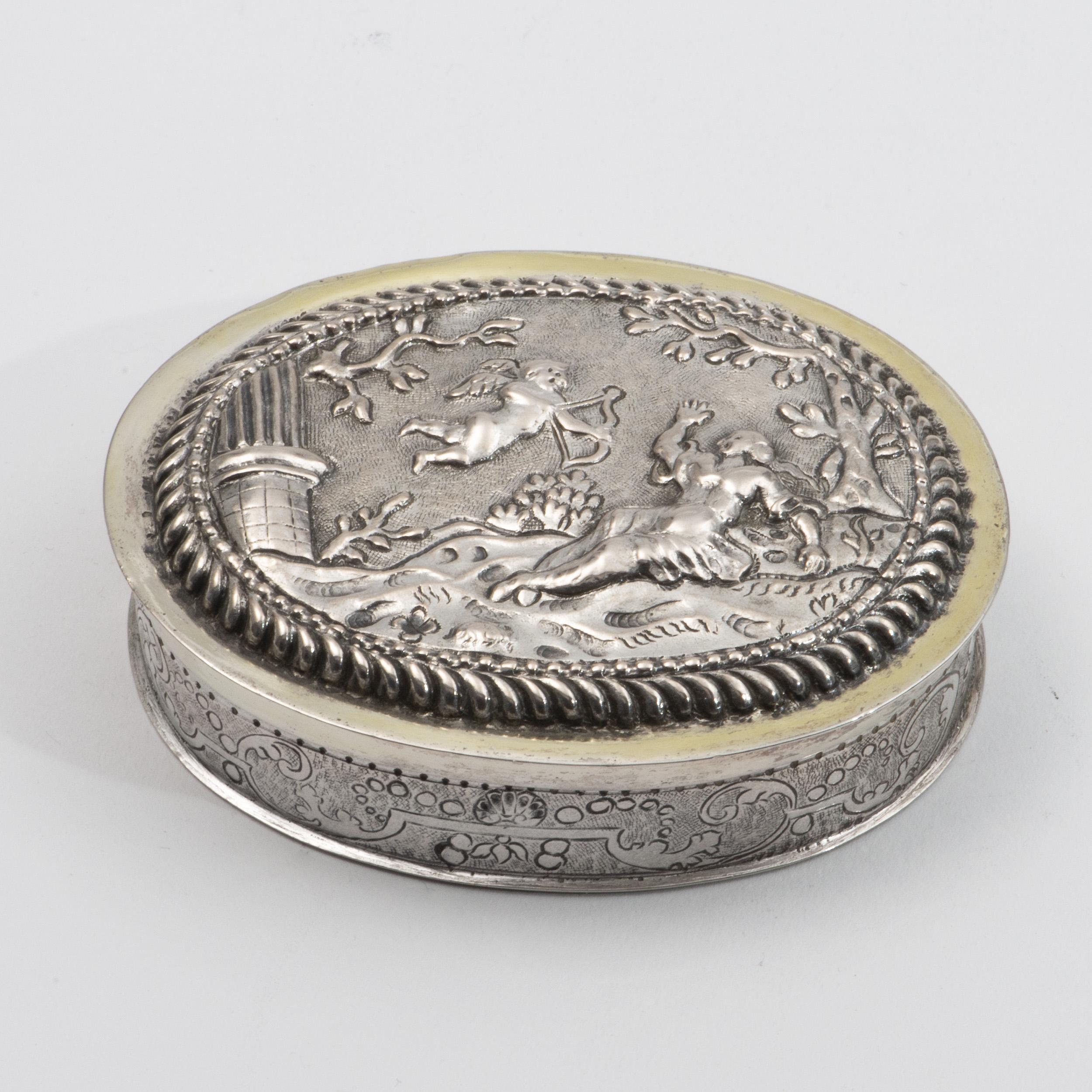 A Late 17th Century European Silver Box.