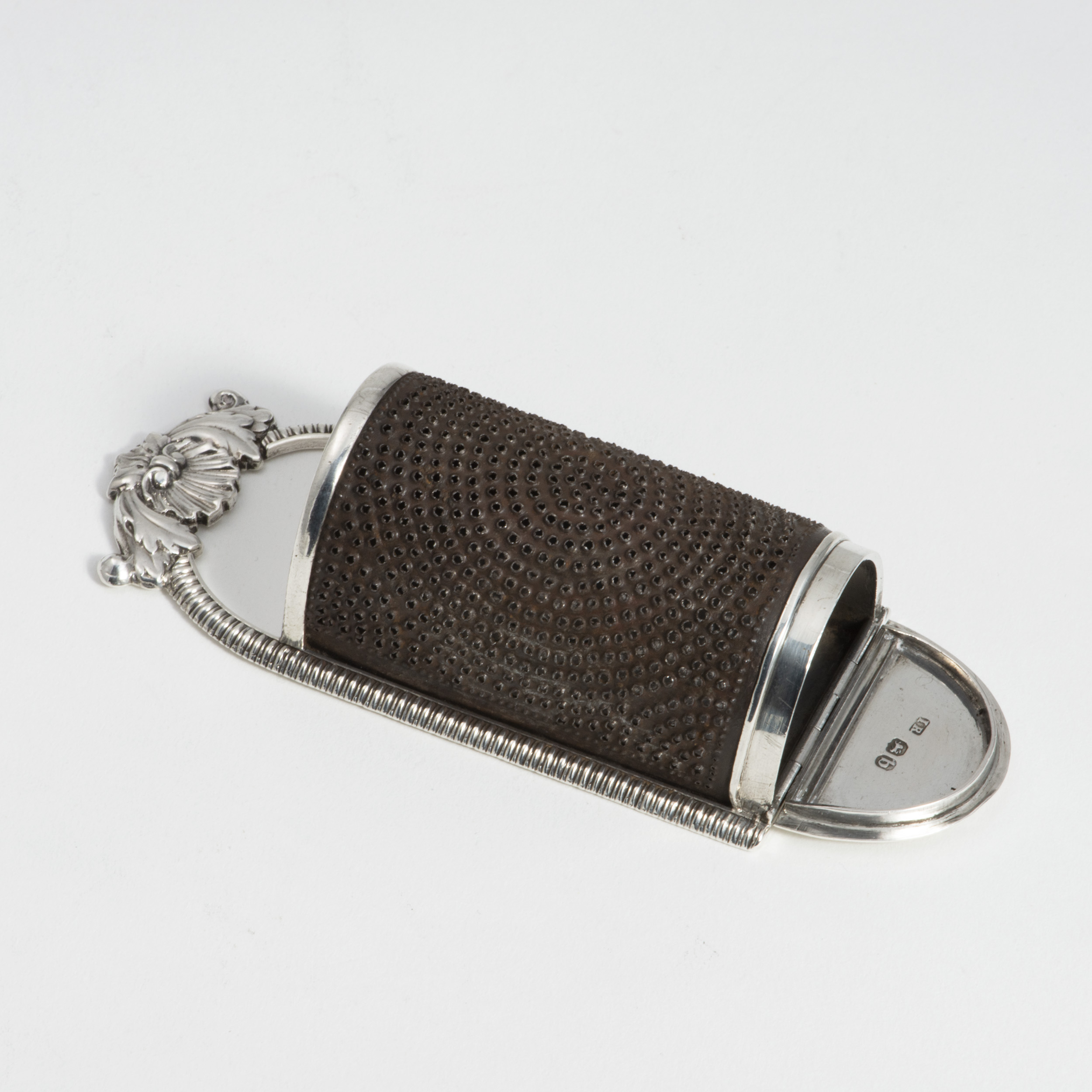 A George III Silver And Steel 'Kitchen' Nutmeg Grater.