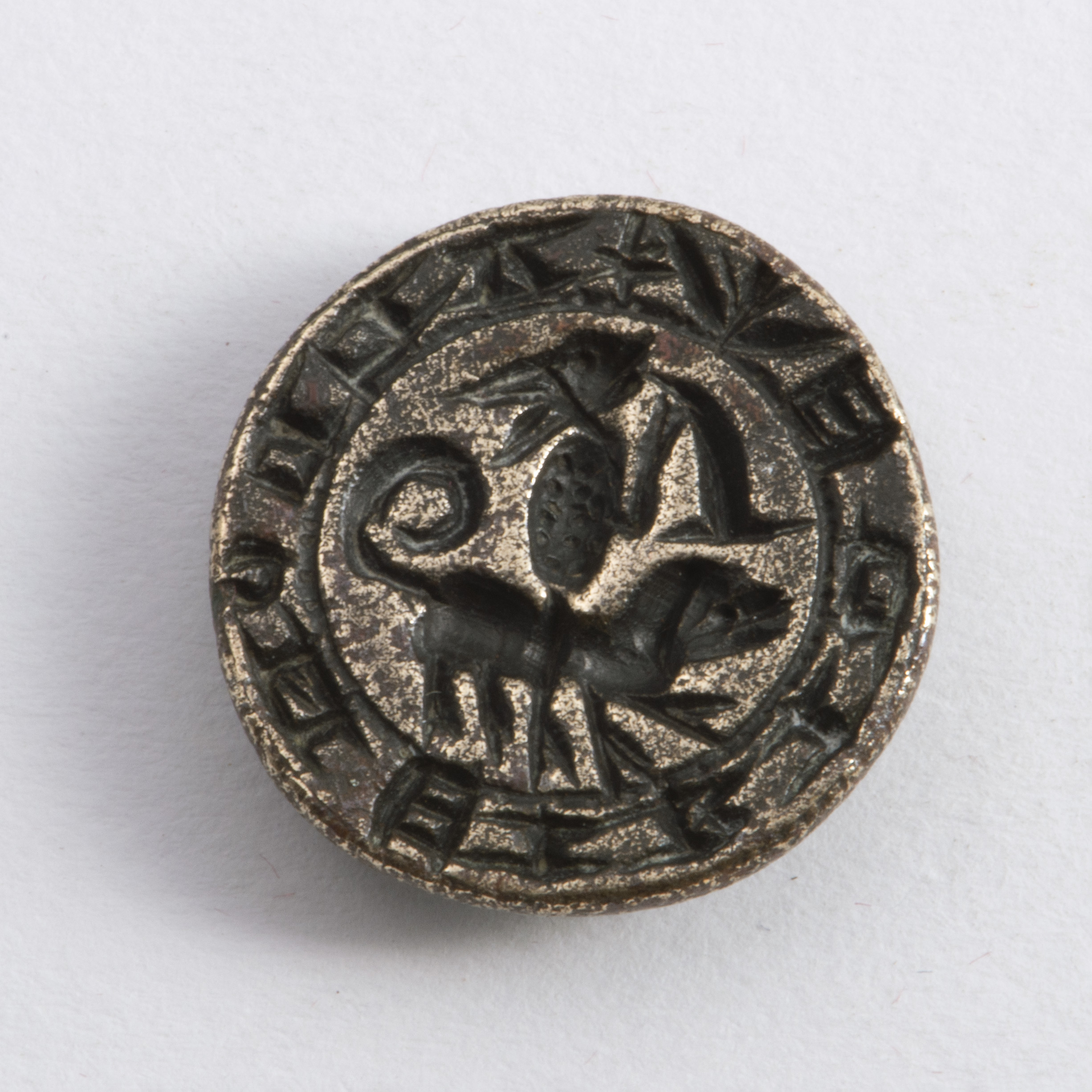 A Late Medieval Bronze Fob Seal.