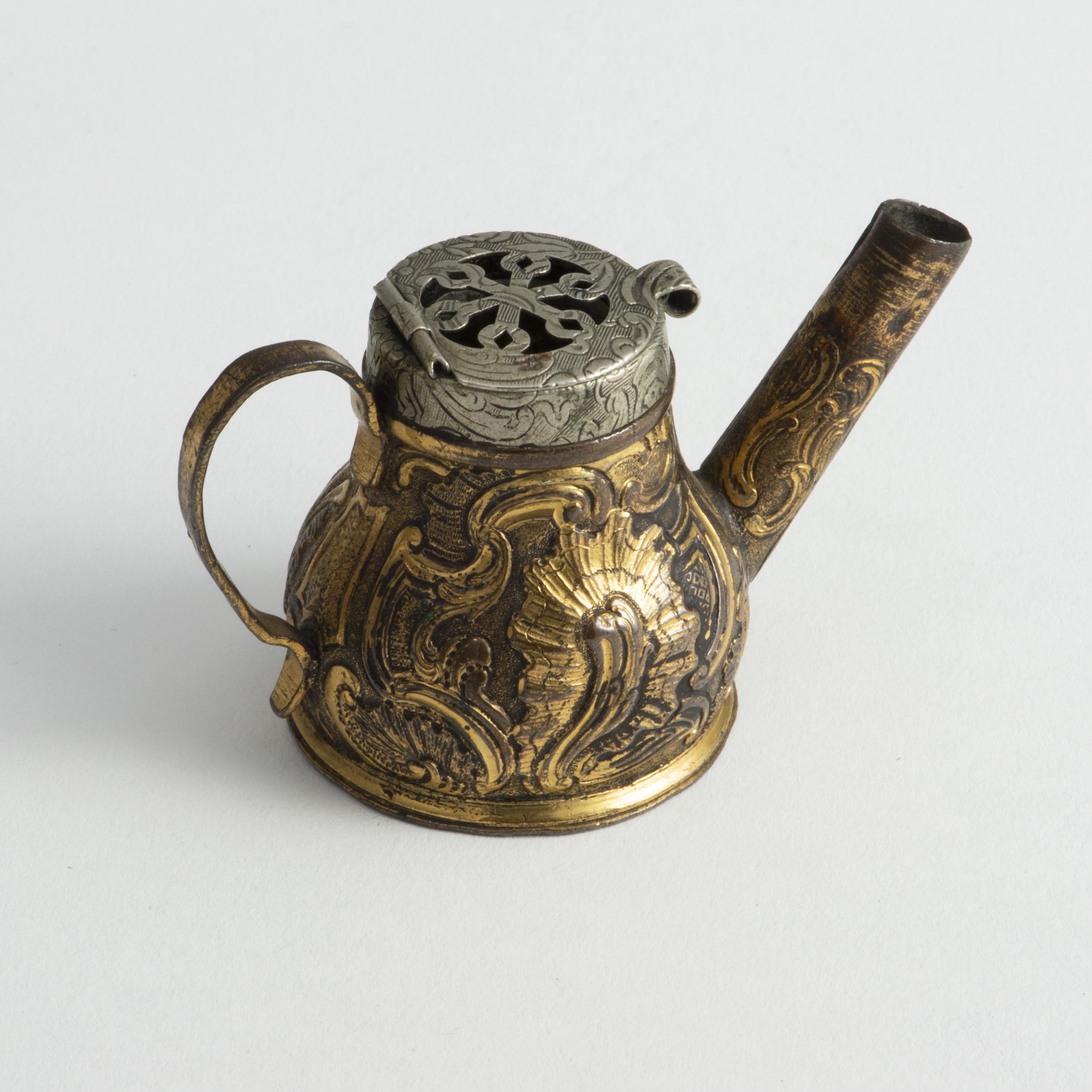 An Intriguing 18th Century Gilt Brass Pot.
