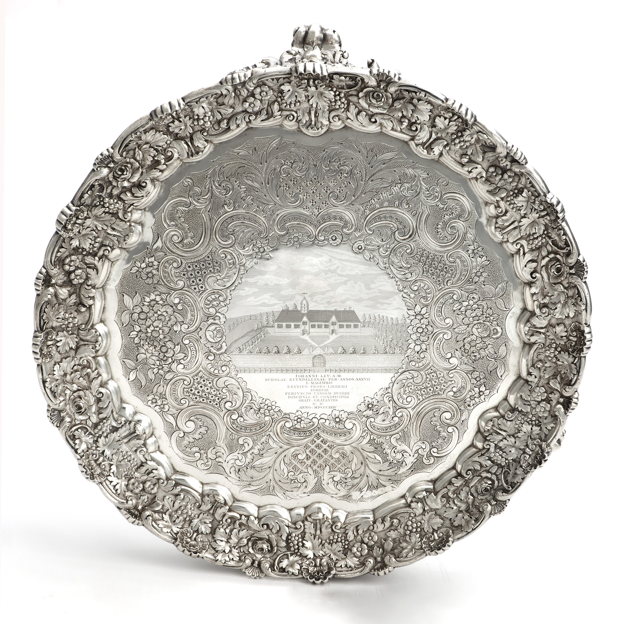 A Fine Blundell's School Salver For A Master.